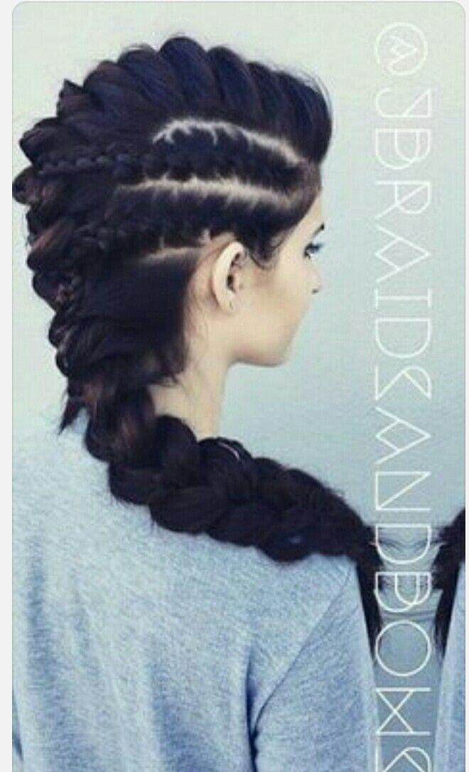 Braids Women Hairstyle Hair Styles Braided Mohawk Hairstyles Long Hair Styles