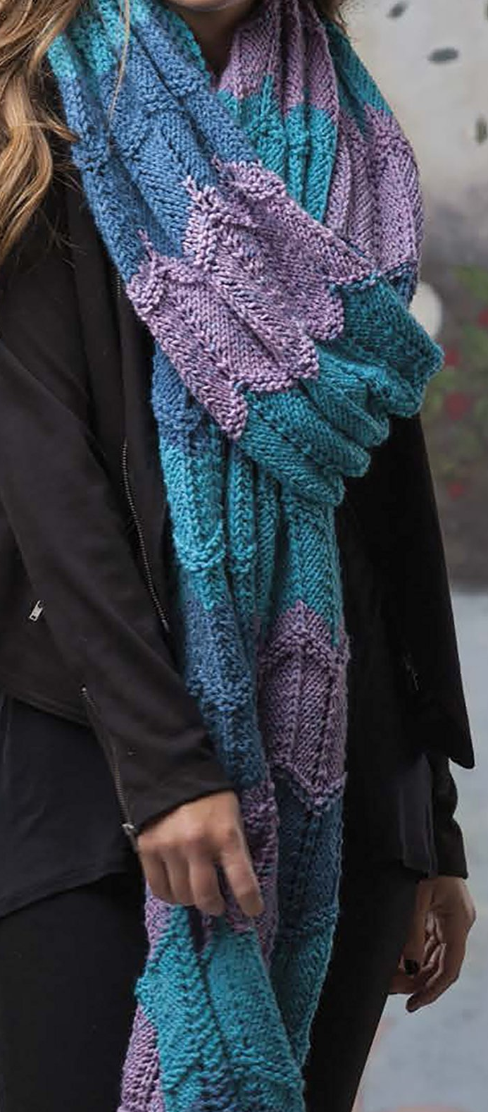 Chevron Scarf Knitting Pattern is one of the six designs in Super ...