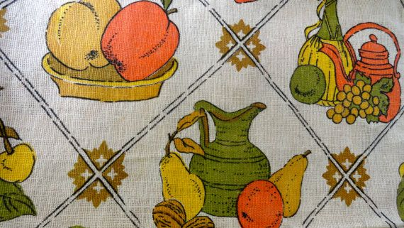 Kitchen Valance 1970s by SucresDaintyDish on Etsy, $20.00