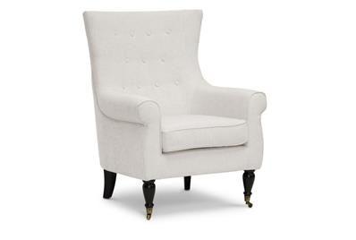 Best Osmaston Beige Linen Modern Accent Chair Affordable 400 x 300
