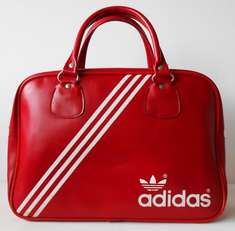 784686260858 Added to the holdall collection. Vintage 1970s Adidas Peter Black Northern  Soul Weekend Sports Holdall Bag.