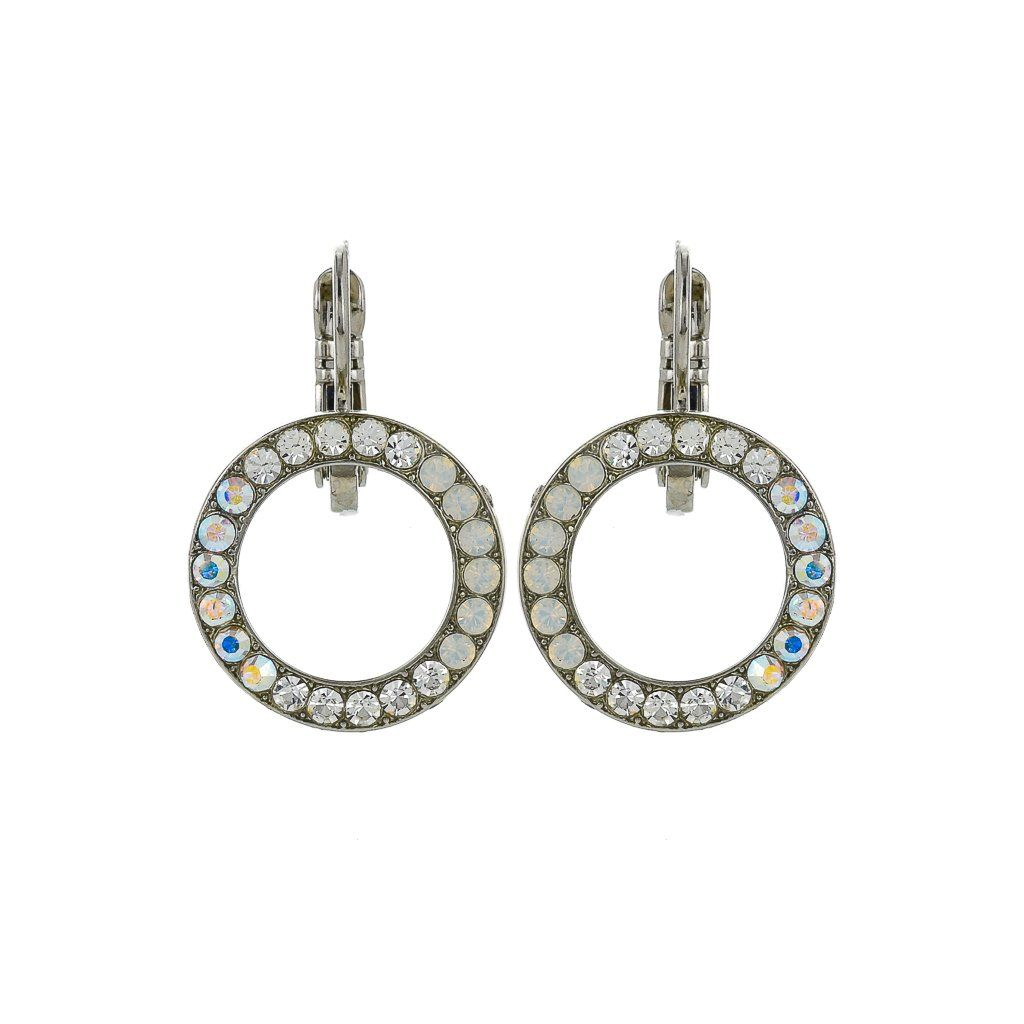 Photo of Petite Open Circle Leverback Earrings in On a Clear Day *Preorder* – Yellow Gold