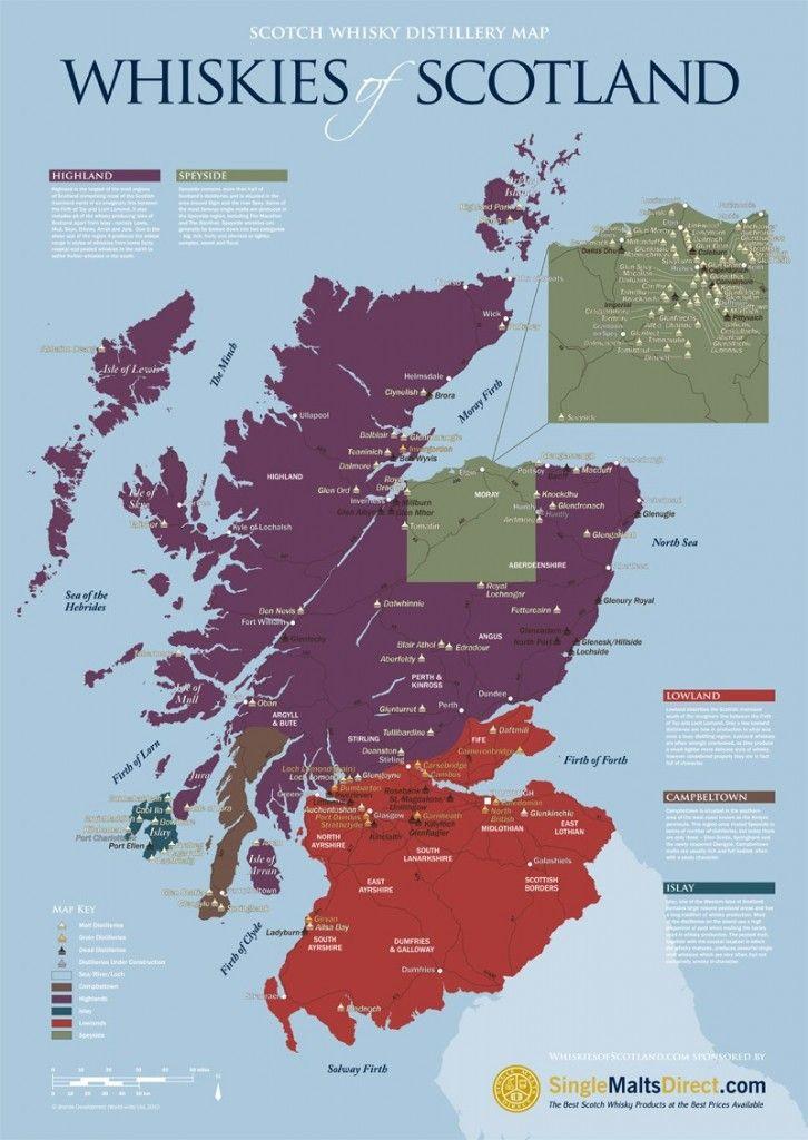 scotch tour scotland map Pin On Scotland