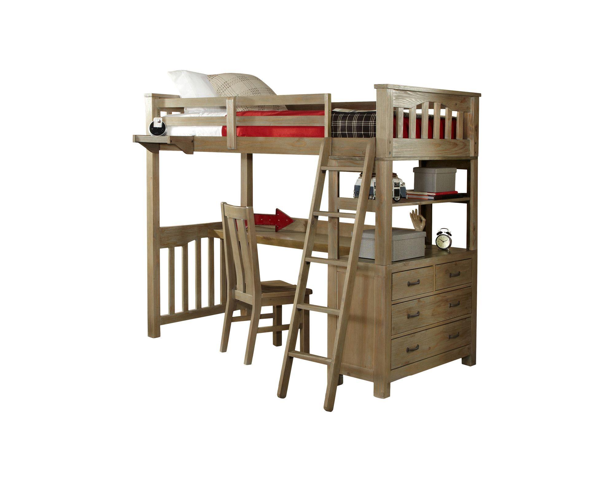 Viv Rae Wilbur Loft Bed With Desk Reviews Birch Lane Ry