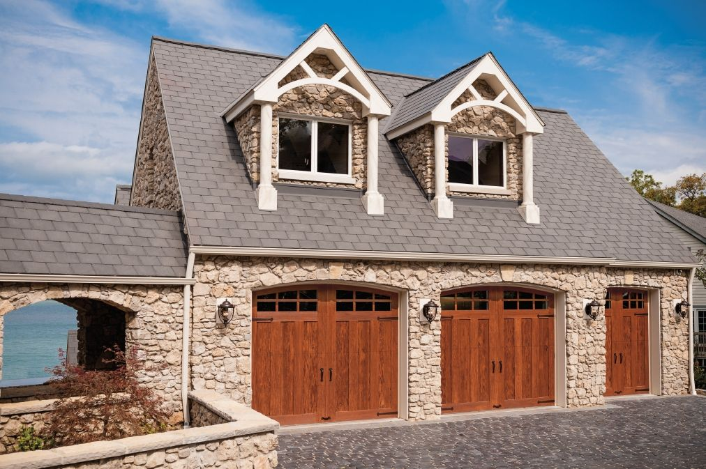 Garage Door Rooms With A View Of Crystal Blue Lake Erie On Catawba Island Doors Shown Clopay Canyon Ridge Collection Limited Editio With Images Carriage Style Garage Doors