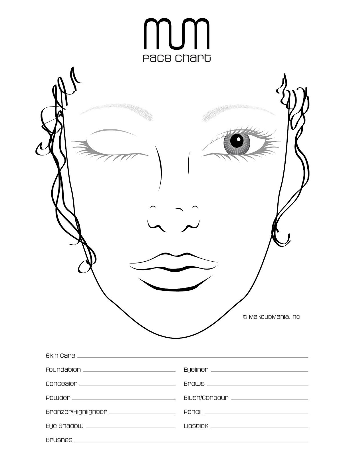 Blank Face Chart Temples Male And Female Hi All Hope You Had Good Start For This Year I Had