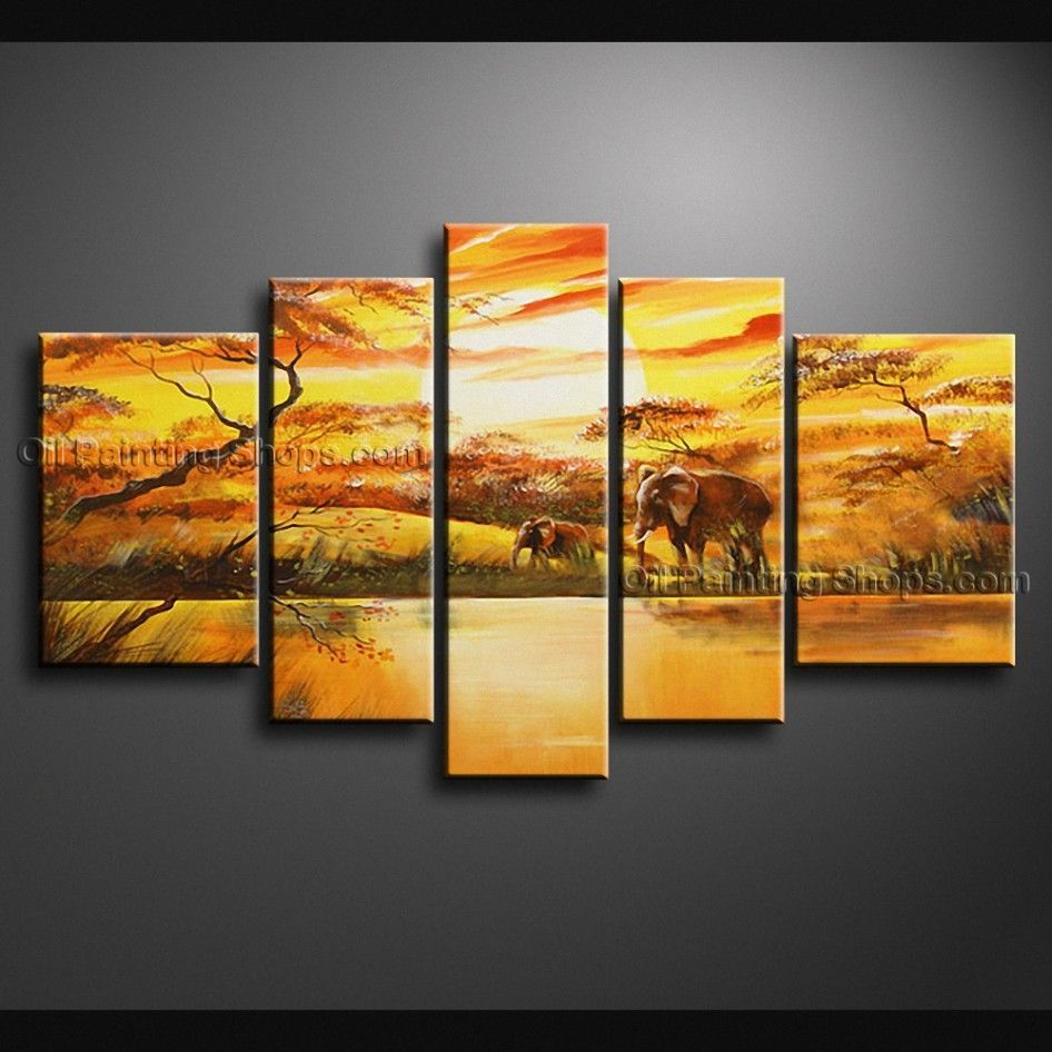 Hand-painted Large Contemporary Wall Art Landscape Painting Ready To ...