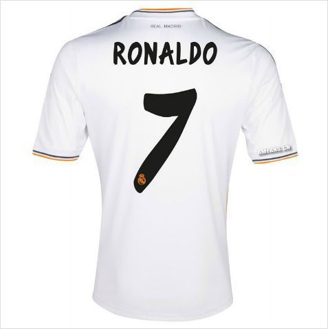 new arrival 6238c c02e7 Ronaldo Youth 13/14 Real Madrid Home Soccer Jersey and ...