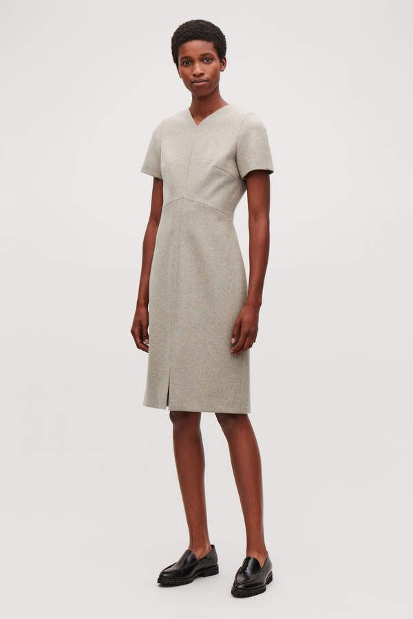 8749730f534b Cos WOOL-CASHMERE TAILORED DRESS in 2019 | Products | Dresses ...