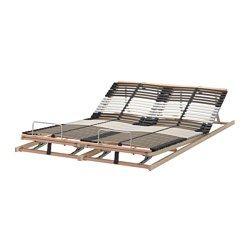 Leirsund Slatted Bed Base Adjustable Queen Ikea Bed Slats
