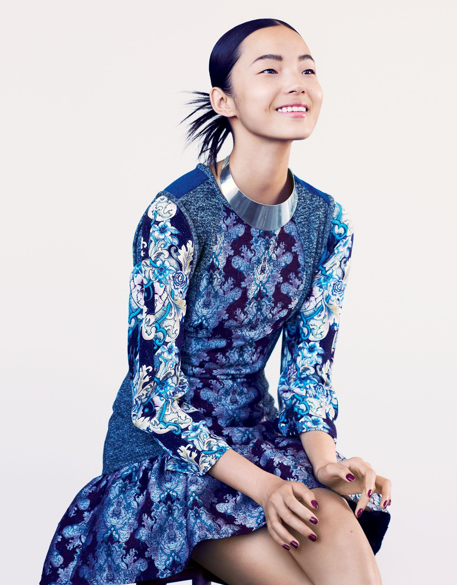 Xiao Wen Ju - Photographed by Hasse Nielsen, Vogue, December 2012 (MISS -Pretty, but no - BA)