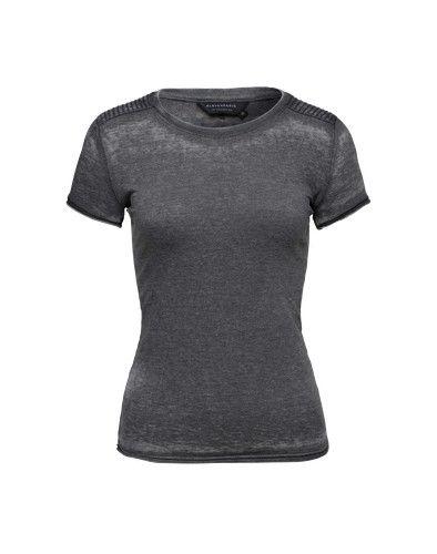 ELEVEN PARIS T-Shirt mit Stepp-Detail ´Nalaba´ anthrazit