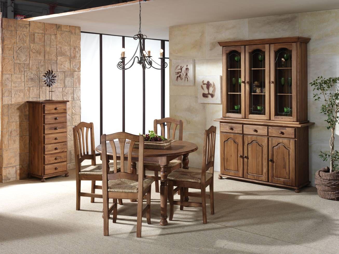 Aparador estilo provenzal de tres puertas y tres cajones, de madera ...
