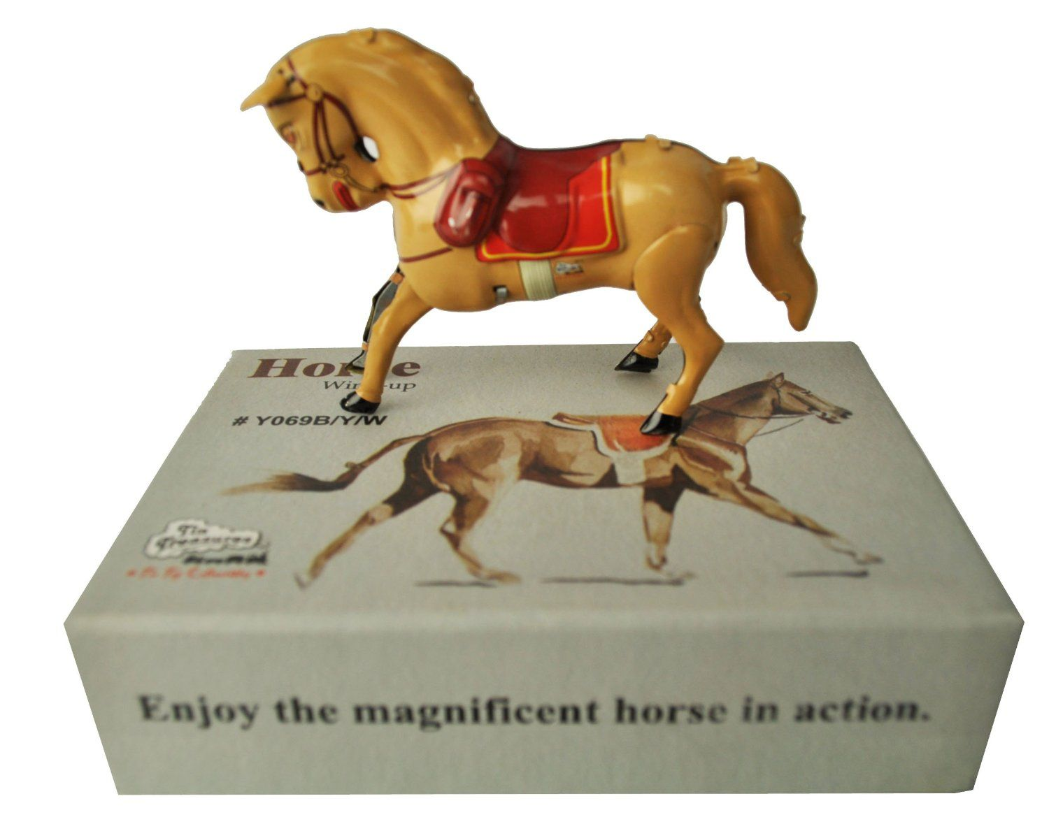buy tin toys horse light brown collectible welby treasures replica