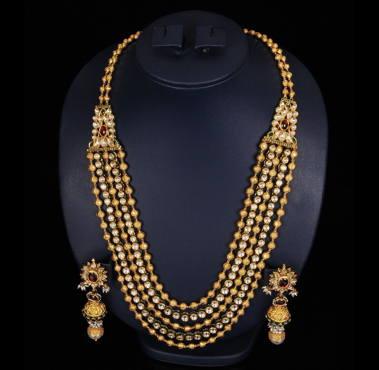 Top 25 Indian Antique Jewellery Designs For Women: Antique Beads Kundan Mala