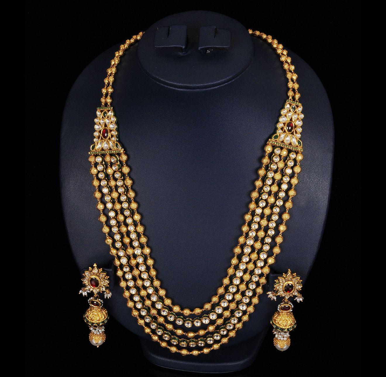 Antique beads kundan mala jewellery pinterest beads indian