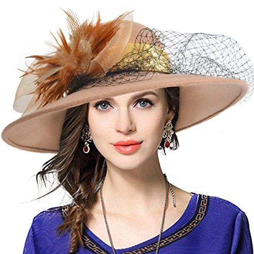 Women s Fascinator Wool Felt Hat Cocktail Party Wedding F... https ... f78c3aeaebb