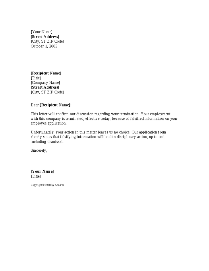 Termination of employment letter visa cancellation format event letter format for change name best template collection company spiritdancerdesigns Image collections
