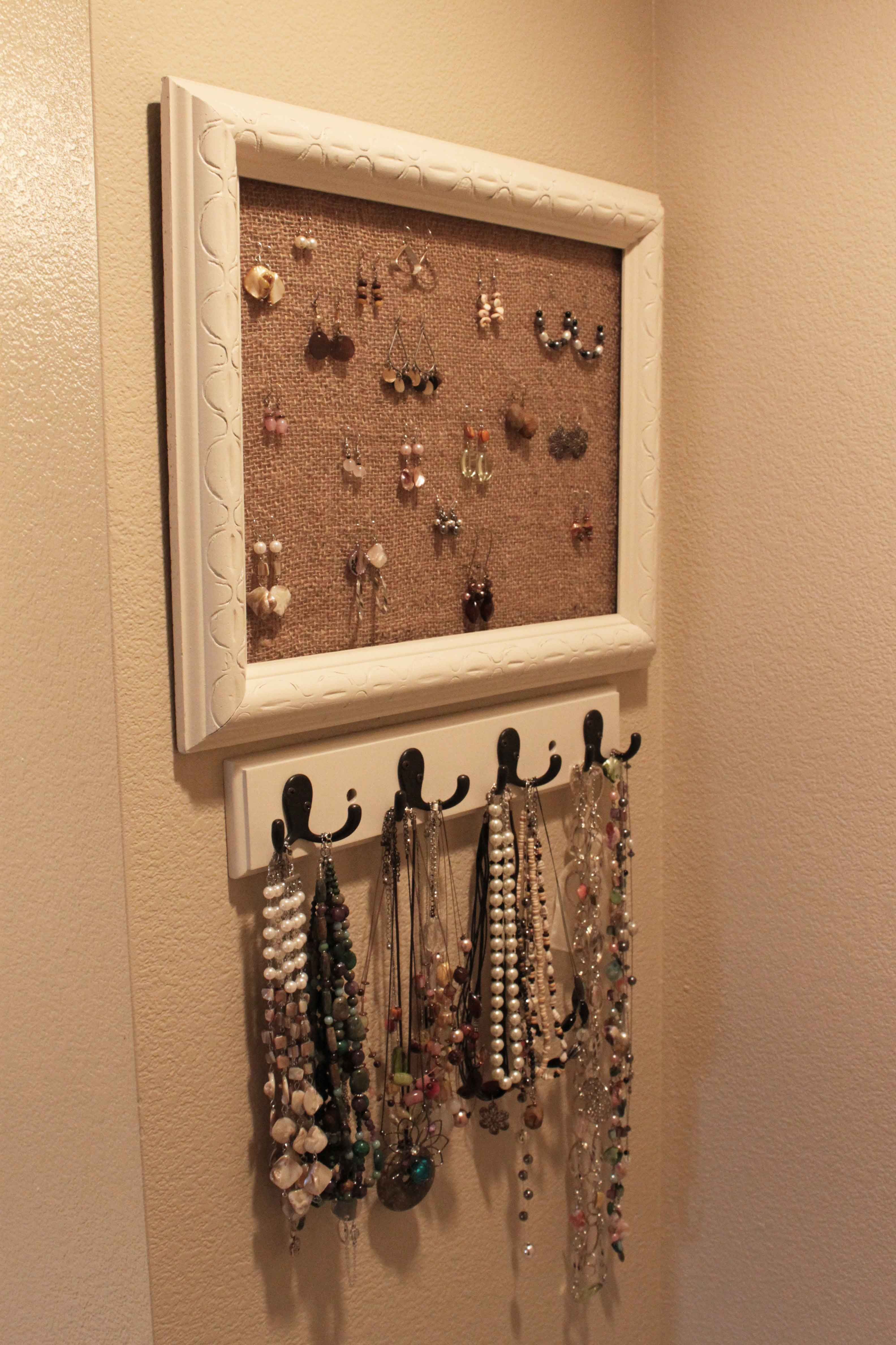 DIY Jewelry Holder | Pinching Your Pennies. Great! Totally what Im ...