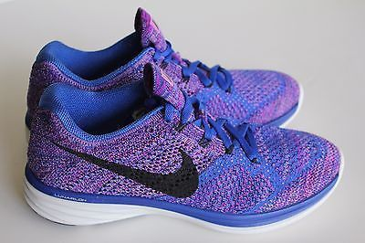 19a71cf51f87 New Women s Nike Flyknit Lunar3 Game Royal Running Shoes 698182 405 Size 8