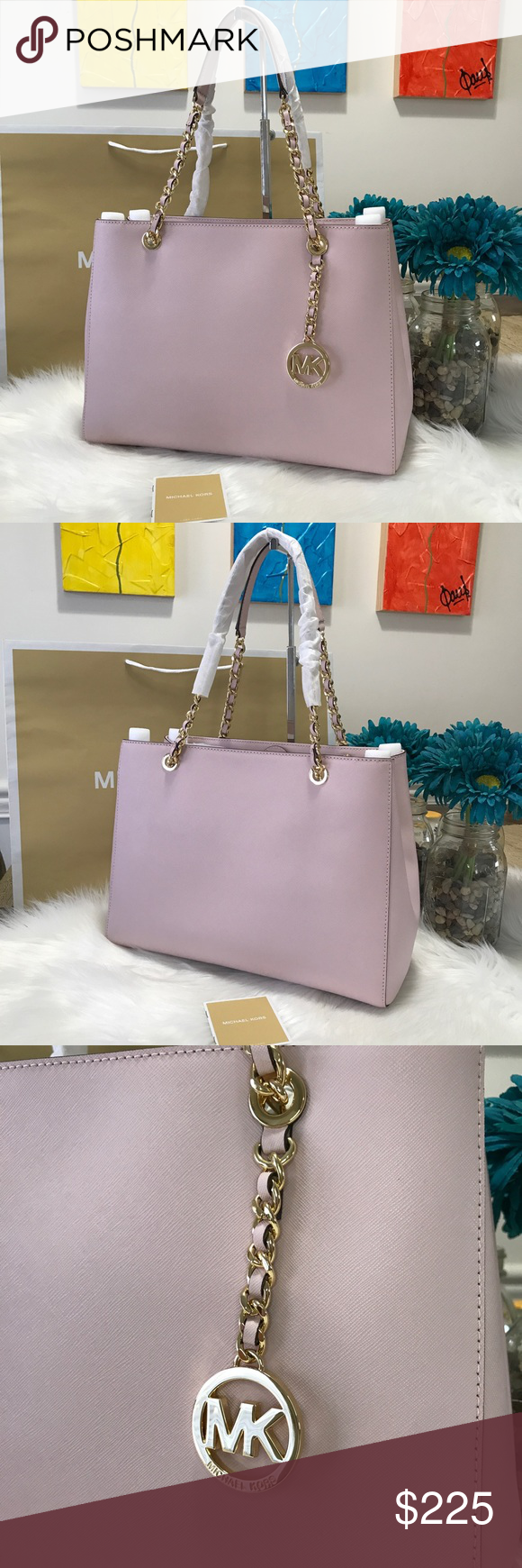 9fcf3a6fb25471 Michael Kors Susannah Tote Large Blossom Brand New 100% Authentic MK  MICHAEL KORS SAFFIANO