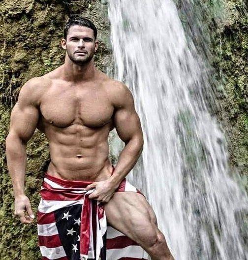 Hot Handsome Muscular Redneck Shirtless Selfie   Guys