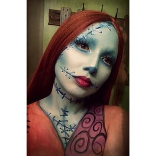And solo Sally, complete with intricate stitches. | 25 Chilling Tim Burton Costumes You Should Try This Halloween
