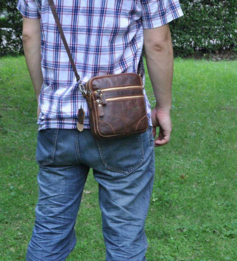2015New Men's Genuine Leather Vintage  Cross body Messenger Shoulder Satchel Bag #Juiceaction #MessengerShoulderBag