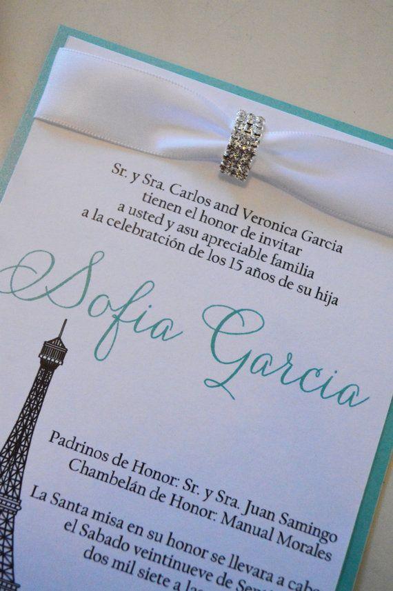 quinceanera invitations paris invitation spanish invitation