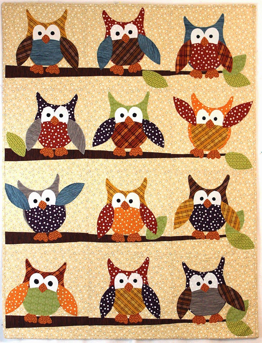 Owl Quilt Pattern : quilt, pattern, Jennifer, Jangles, Quilts,, Sewing, Patterns,, Quilt