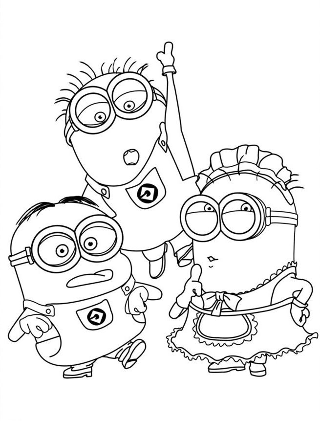 Minion Coloring Pages Best Coloring Pages For Kids Minion Coloring Pages Minions Coloring Pages Coloring Pages For Boys