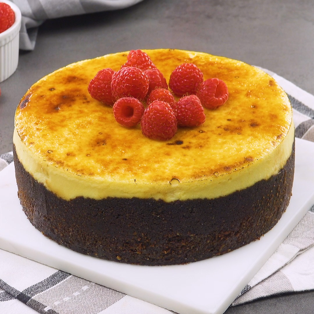 Crème brûlée als Kuchen