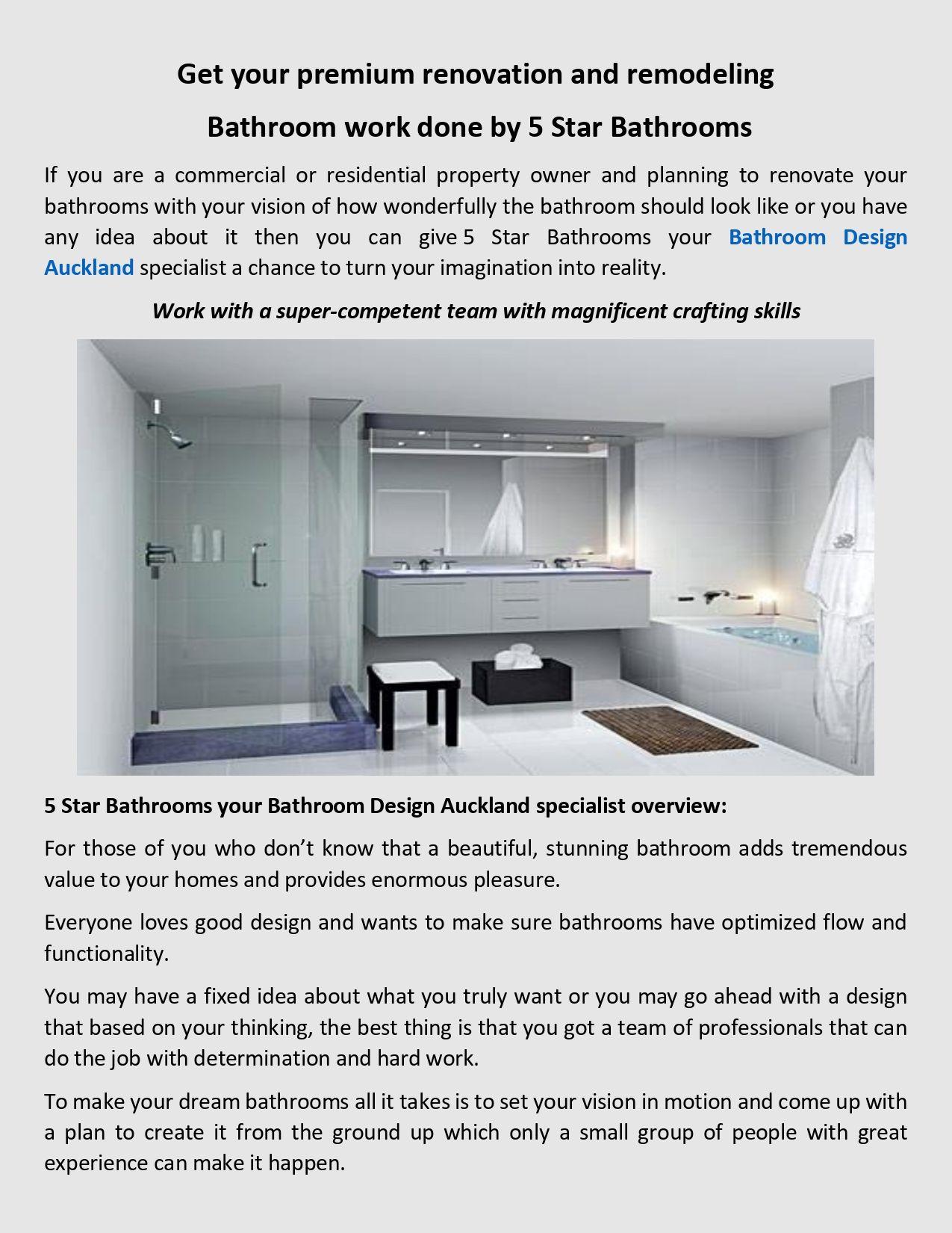 Five Star Bathroom Design Your Home Bathroom In 2020 Bathroom Design Bathroom Renovation Cost Design Your Home