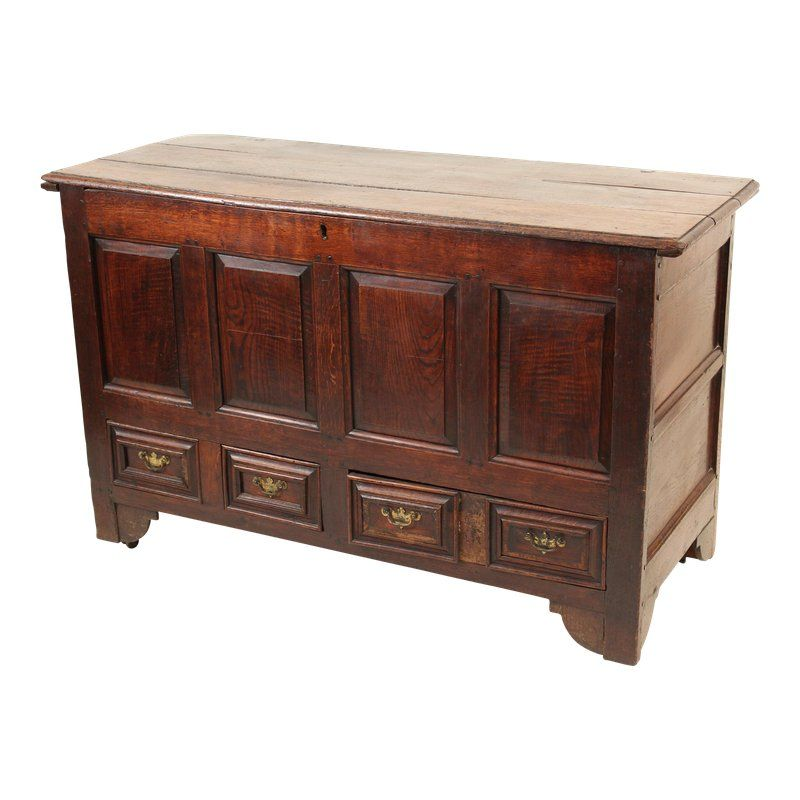 Antique English Oak Mule Chest In 2019 Painting Wooden
