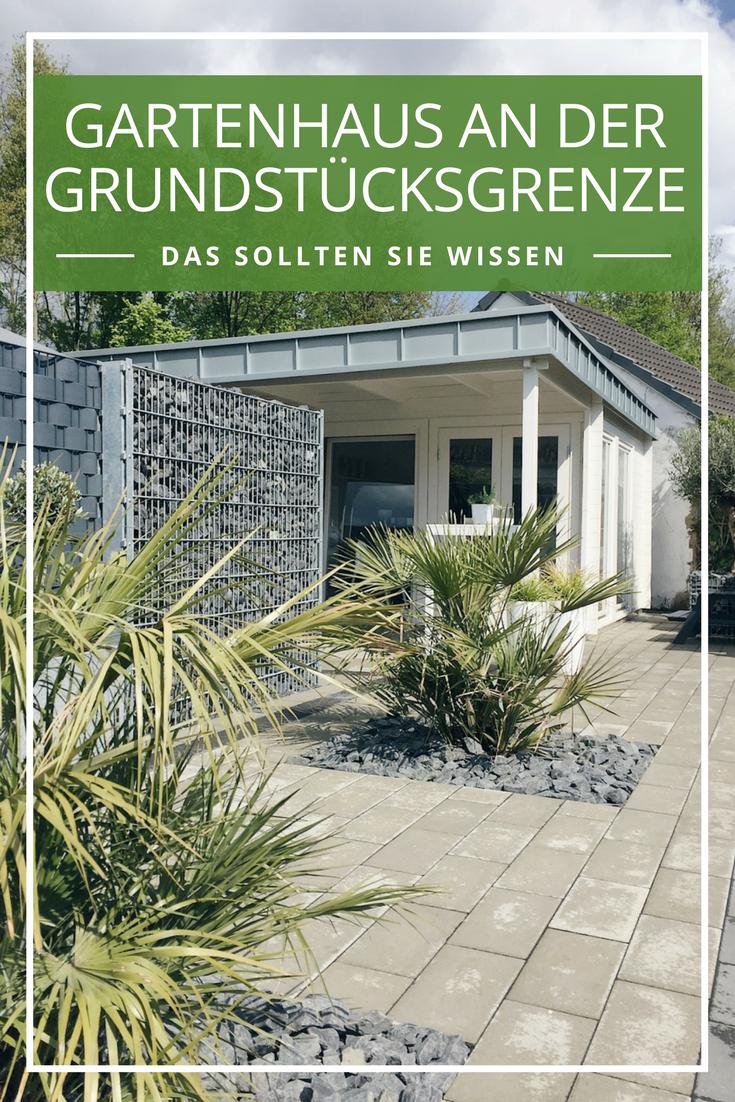 Gartenhaus Abstand zum Nachbarn Wo darf es stehen