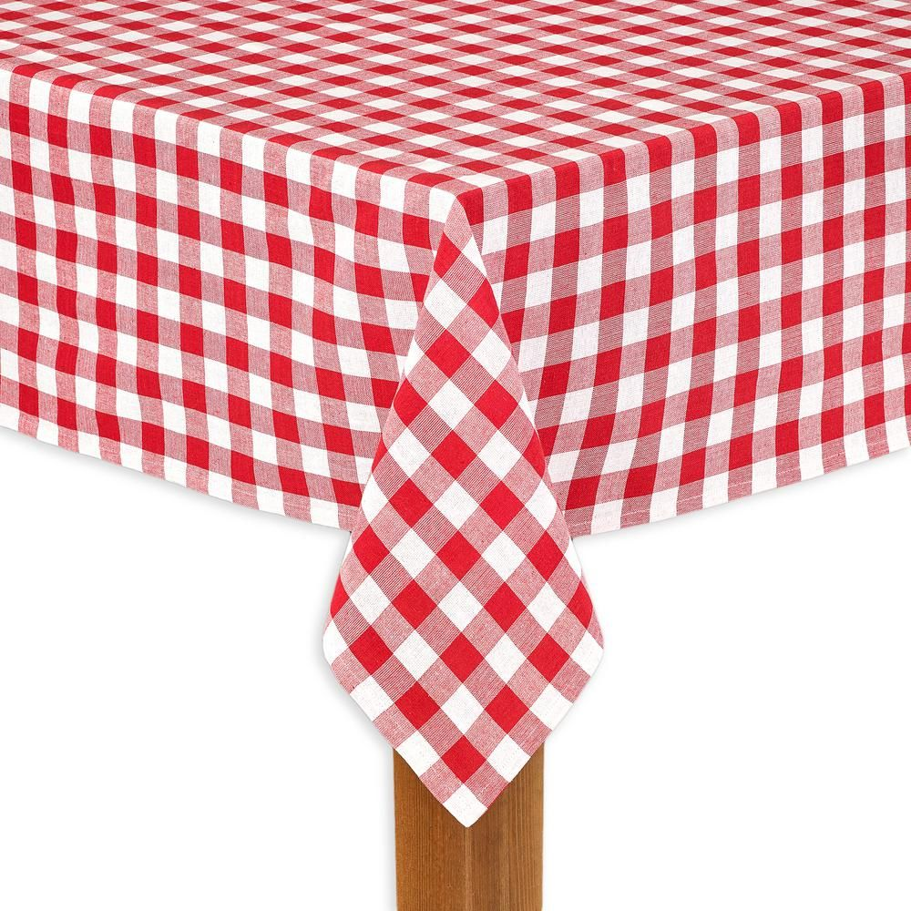 Lintex Buffalo Check 60 In X 104 In Red 100 Cotton Table Cloth For Any Table Buffalo Check Buffalo Check Tablecloth Checkered Tablecloth