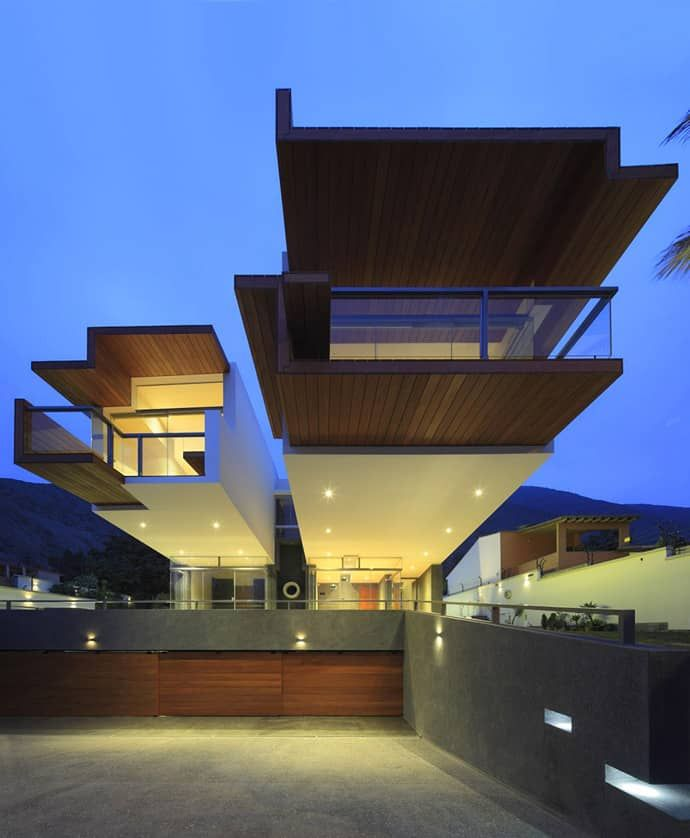 Creatively Cool Dual Cantilevered House In Peru: Creatively Cool Dual Cantilevered House In PeruDesignRulz18 October 2013Designed By Longhi