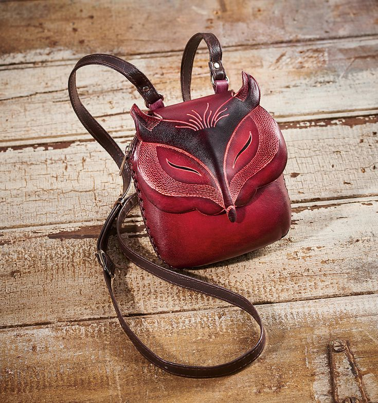 401f88b8ef940 4773227202: Red Fox Leather Purse | Shaped Bags | Art decor, Leather ...