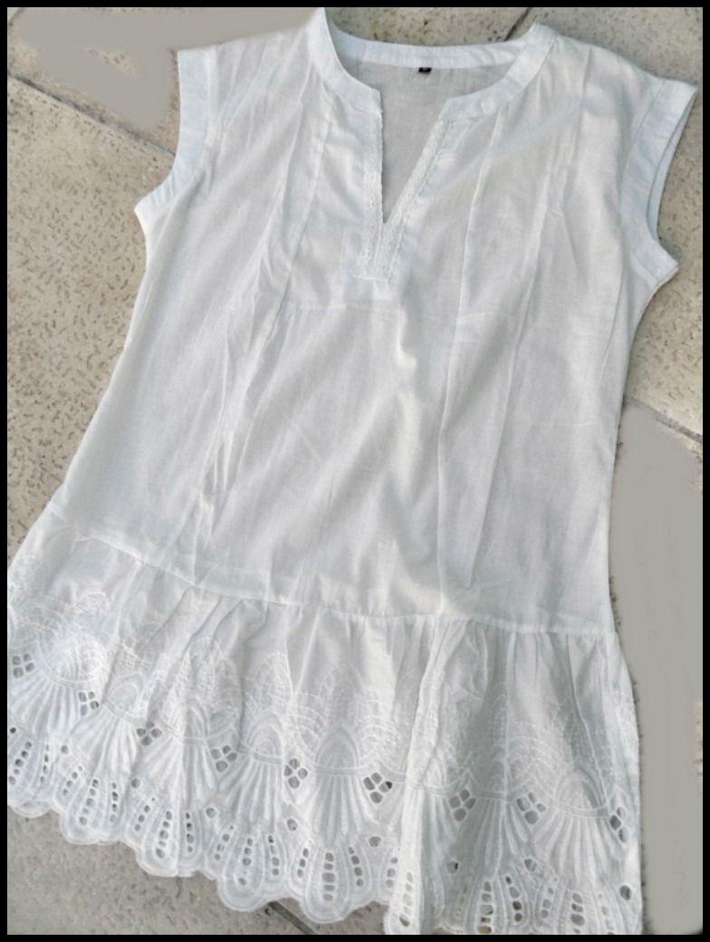 aa3207d95213d Camisa Blanca De Broderie -   490