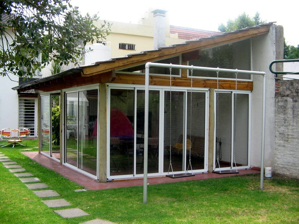 Cerramientos en aluminio quinchos balcones galerias - Porches de casas ...