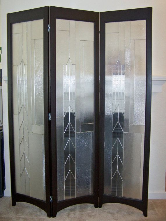 Stained Glass Room Divider 3 Panel Screen Metropolis Java Model