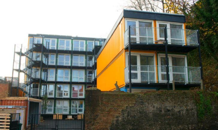 Brighton S Pioneer Shipping Container Development Houses The Homeless Container Buildings Shipping Container Container House