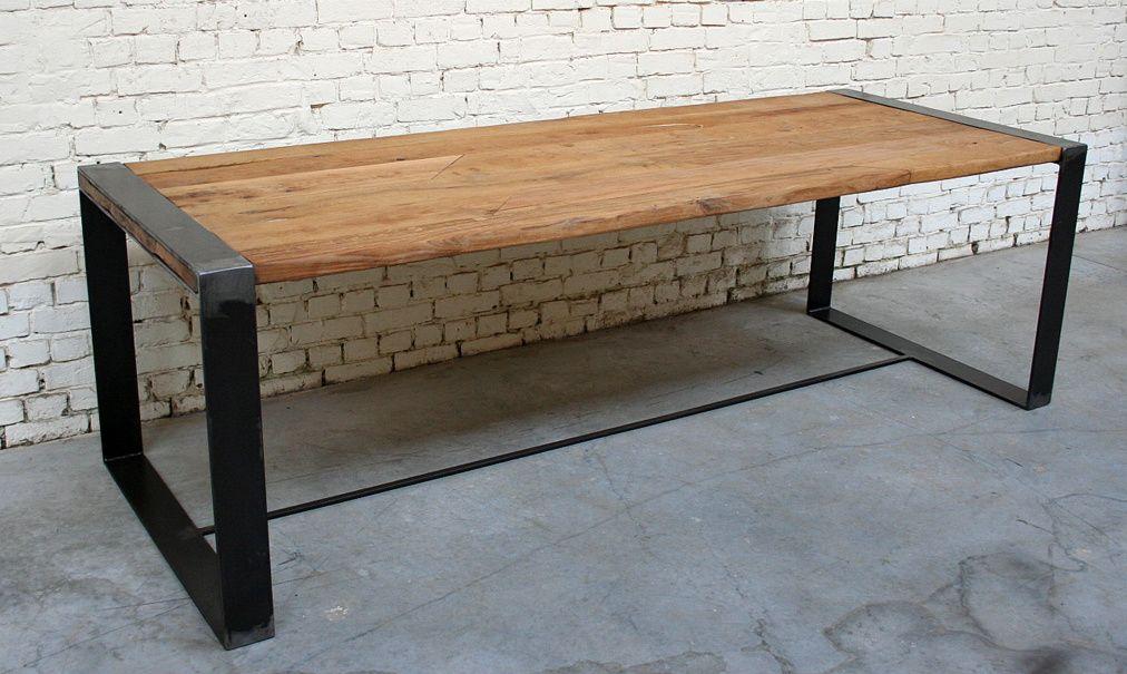 Bureau bois metal vintage: bureau bois design en beautiful console
