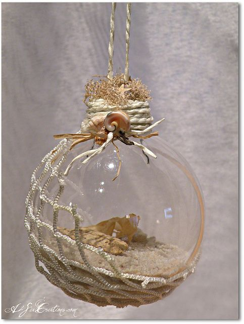 island treasure christmas beach ornament by a2seacreations via flickr - Beach Christmas Decorations