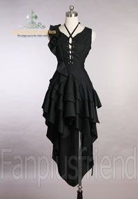 Elegant Gothic Bias Dark Princess Dress*Instant Shipping