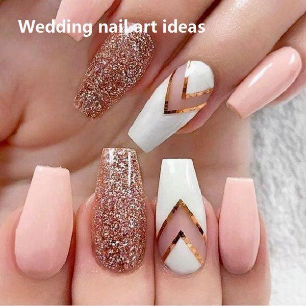 35 Einfache Ideen für Hochzeit Nägel Design #nailartideas #naildesigns #design #simple # wedding