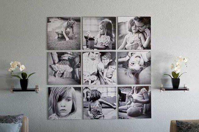 11 adembenemende manieren om je dierbare foto's op de muur te hangen