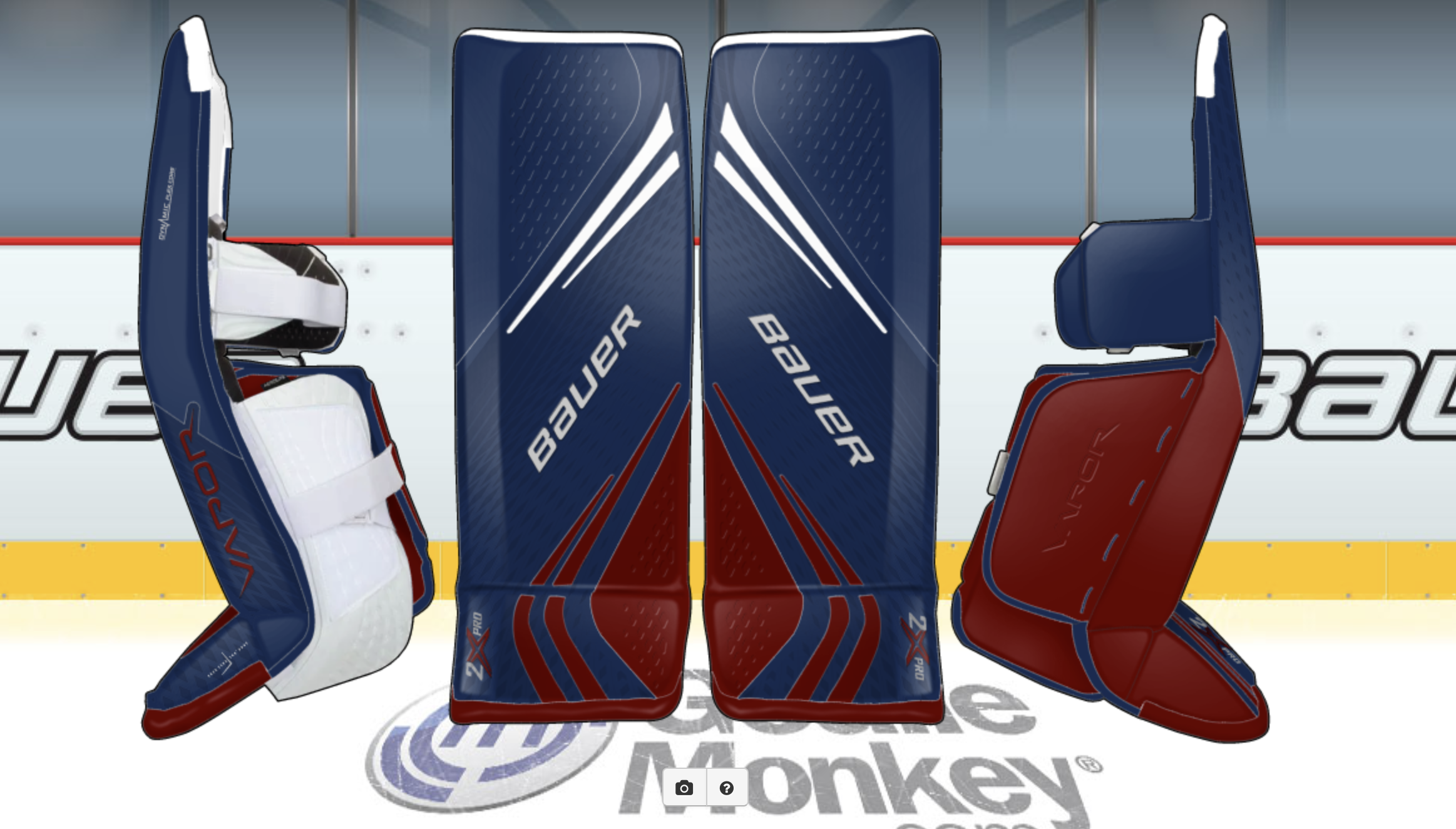Avs Inspired Bauer 2x Gear Goalie Gear Goalie Pads Goalie