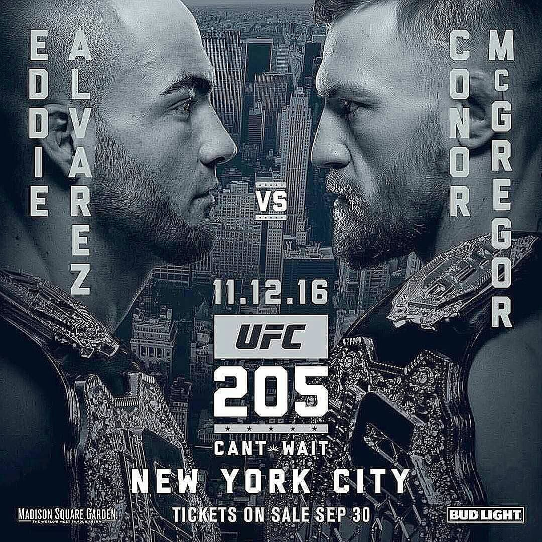It S Set Conor Mcgregor Will Face Champion Eddie Alvarez At Ufc205 Thegarden In Nyc This Card Is Shaping Up To Be One Of The Ufc Ufc Poster Ufc Live Stream