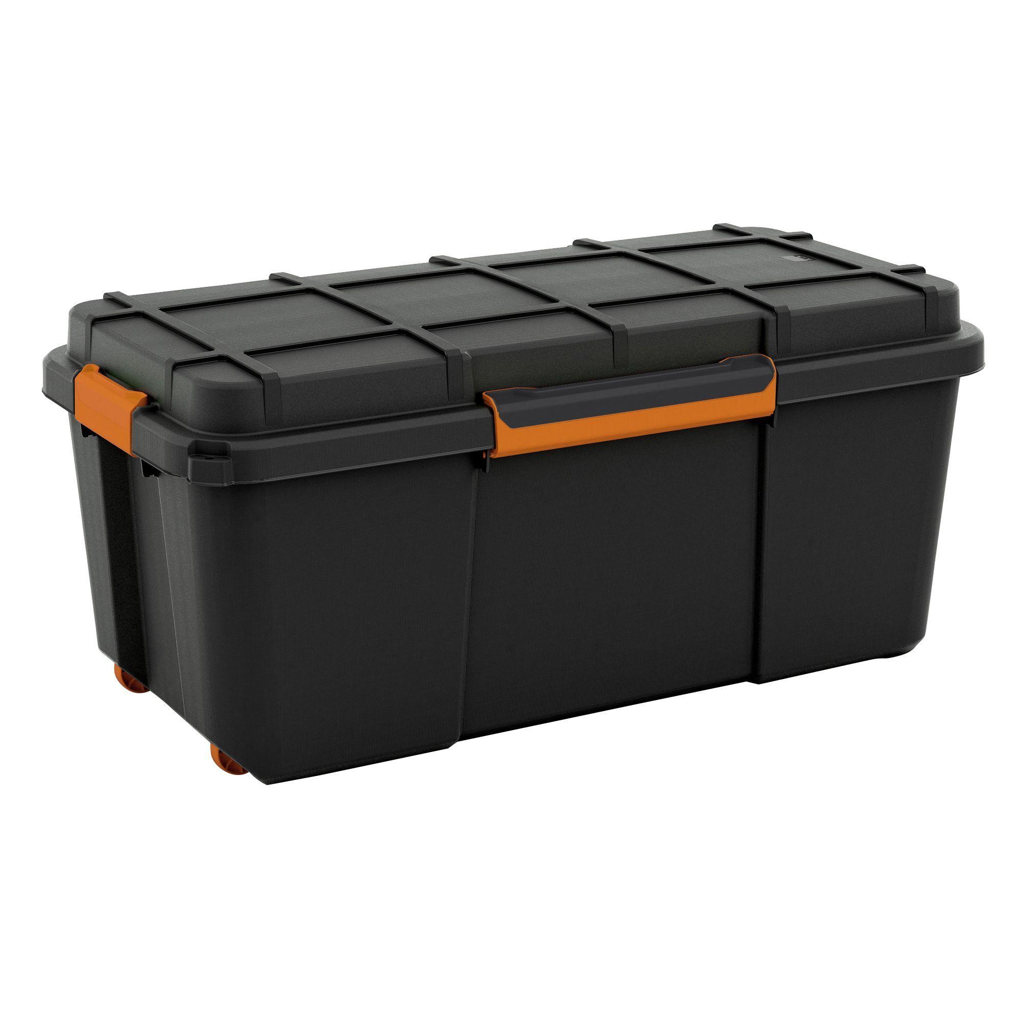 Form FlexiStore Black 74L Plastic Waterproof Storage Box